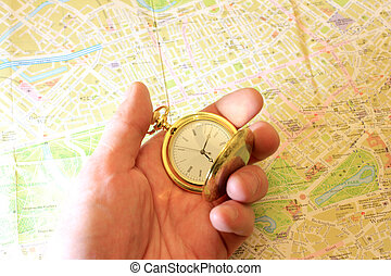 geographical map - watch and geographical map as element ...