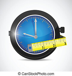 watch and measure tape illustration design