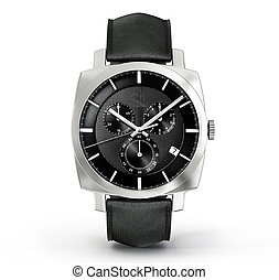 watch - modern watch isolated on a white background