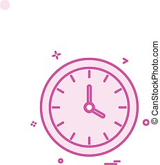 watch clock time icon vector design