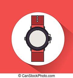 watch clock time wrist icon