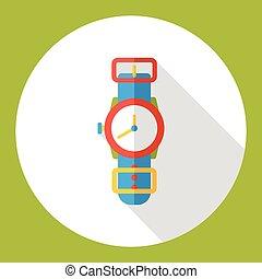 watch flat icon