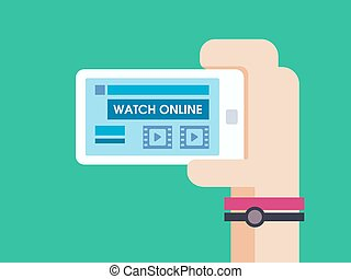 Watch game online on smart phone