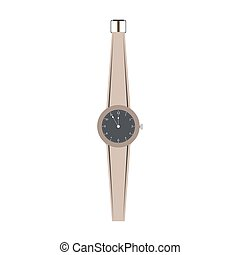 Watch hand vector women isolated wrist illustration. Design icon fashion clock