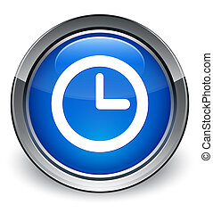 Watch icon glossy blue button
