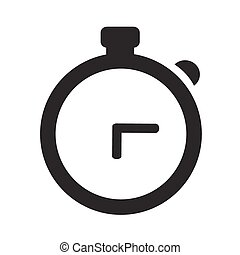 Watch Icon Isolated on White Background