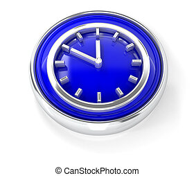 Watch icon on glossy blue round button