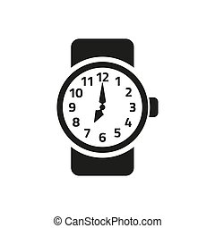 Watch icon on white background.