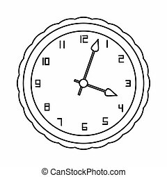 Watch icon, outline style