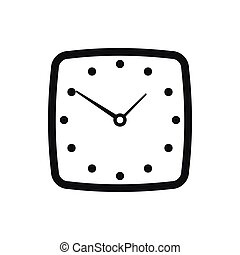 Watch icon, simple style