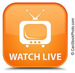 Watch live special orange square button