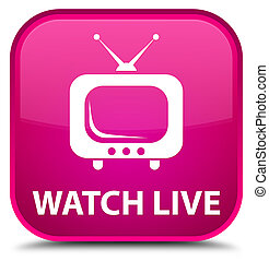 Watch live special pink square button