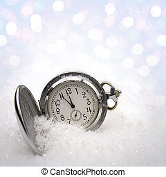Watch lying in the snow