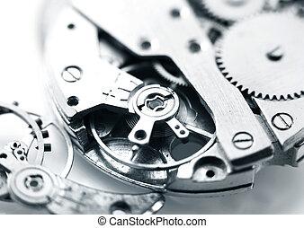 Watch mechanism - Extreme close up shot of watch mechanism...