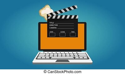 Watch movies online from laptop - Watching movies online...
