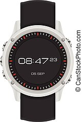 Watch on a white background.