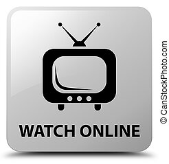 Watch online white square button