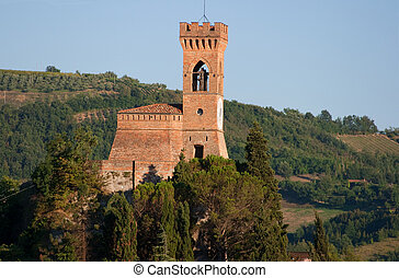 watch tower - medioeval clock tower Brisighella ancient...
