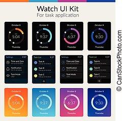 Watch UI Kit - Watch ui kit design concept for task...