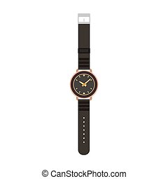 Watch vector man isolated wrist hand illustration. Time TV men design icon fashion clock wristwatch
