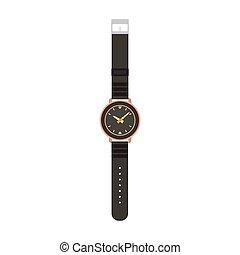 Watch vector man isolated wrist hand illustration. Time TV men design icon fashion clock wristwatch