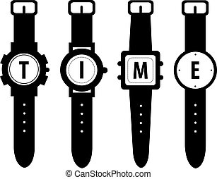 watch vector symbol digital time
