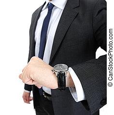 Watch wrist hand business man