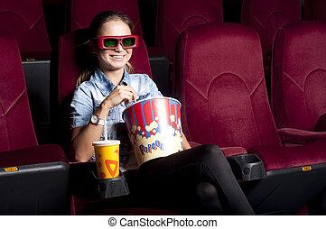 watching a cinema