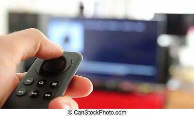 Black Remote Controller - Watching Smart TV And Using Modern...