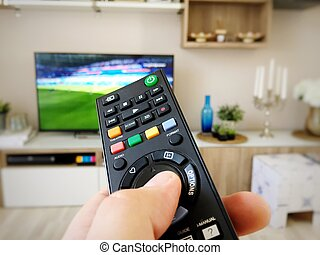 Watching the soccer world cup on television