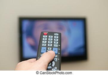 Watching TV remote