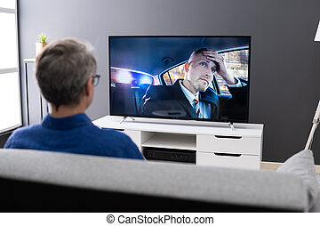 Watching TV. Streaming Television Movie