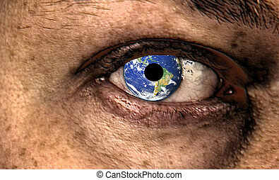 watching you - Scary Eye with earth in it