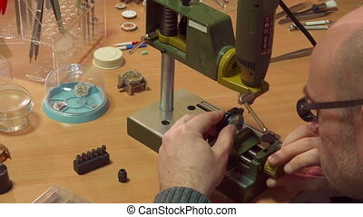 Watchmaker customizes drill press