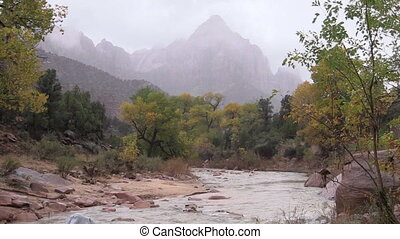 Watchman and Vigin River Zion N.P. - the watchman and the...