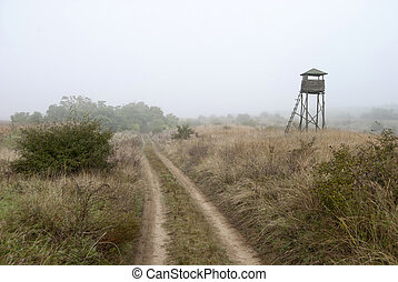 Watchtower in the fog 2