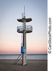 watchtower on a beach