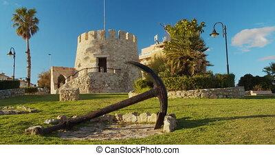 Watchtower on the Spanish Mediterranean coastline, ...