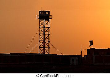 Watchtower - Silhouette of Prison Watchtower