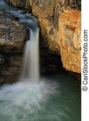 Watefall in Beauty Creek canyon, Jasper national park in...