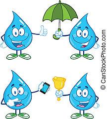water, 1, druppel, set, verzameling