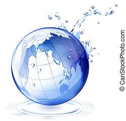 water, aarde, druppel