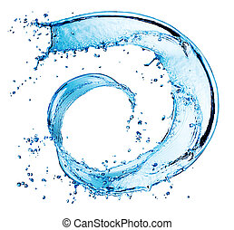 Water Abstract Round Splash. Swirl isolated on white