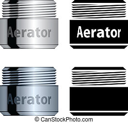 water, aerator, besparing, vector
