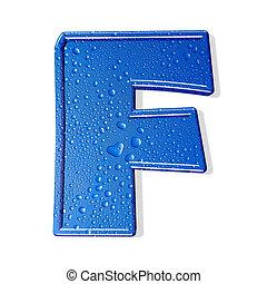 Water alphabet isolated . aqua letter