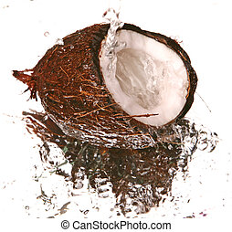 water and coconut