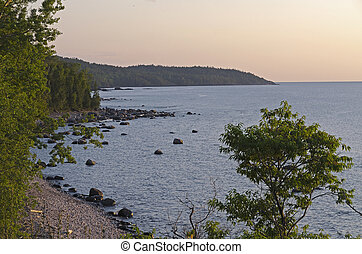 Superior Lake - water and shore line of Superior Lake, ...