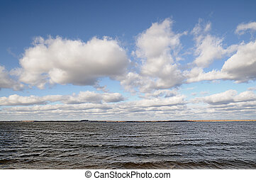water and sky background
