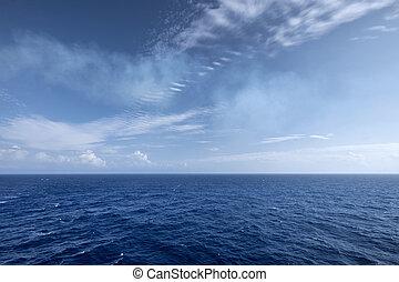 Water and sky horizon texture