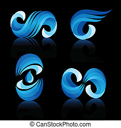 Water and Wave icons